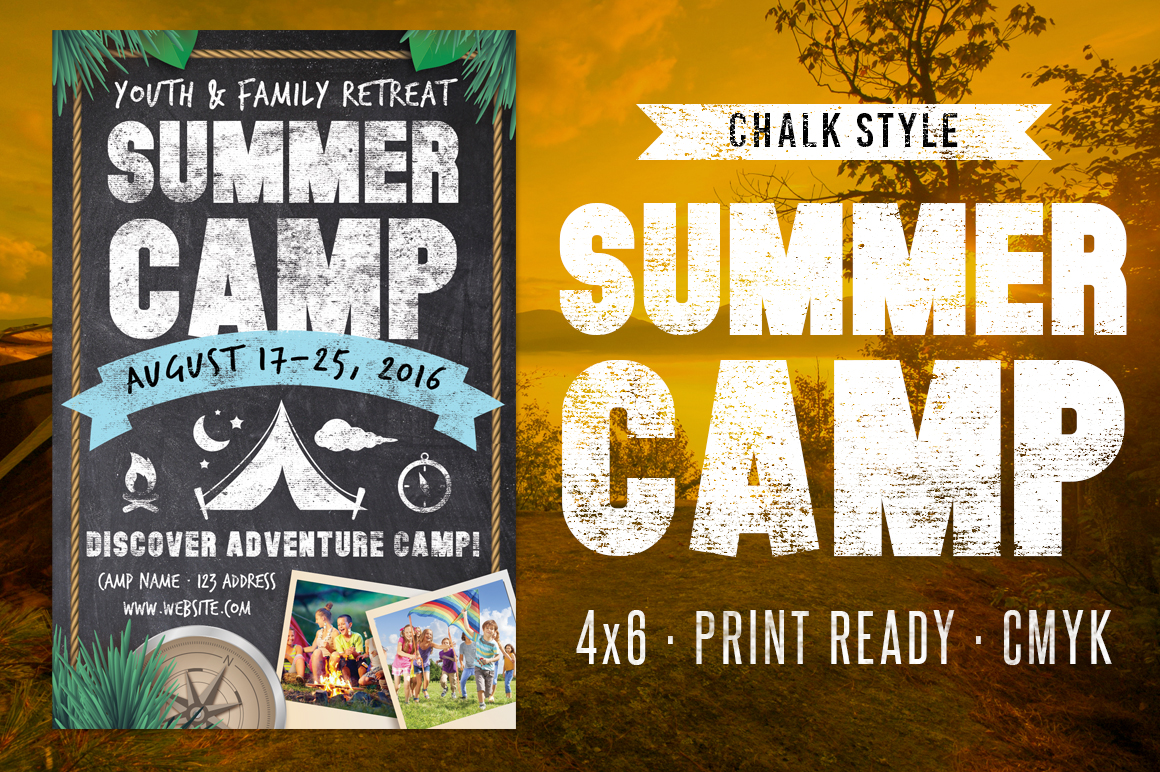 Chalk Summer Camp Flyer example image 2