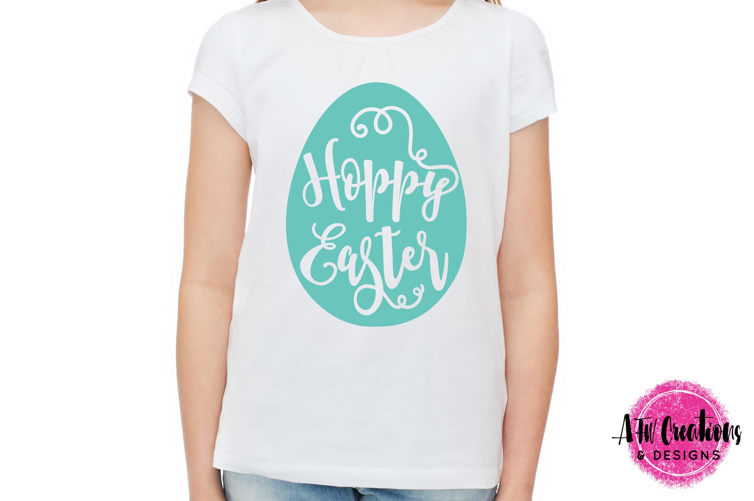 Hoppy Easter Egg - SVG, DXF, EPS Cut File example image 2