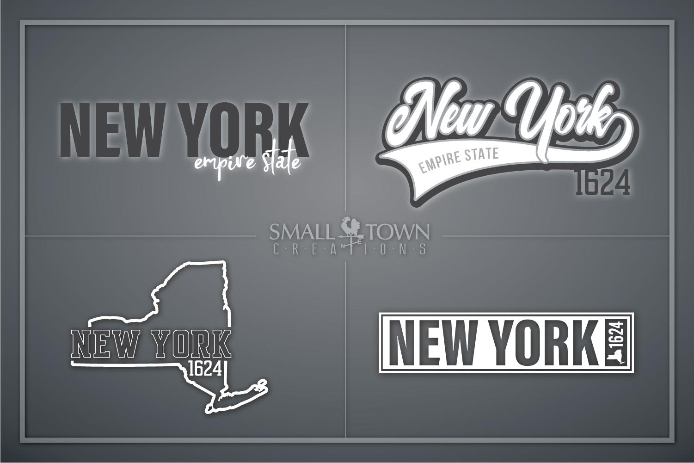 New York, Empire State - slogan, PRINT, CUT & DESIGN example image 1