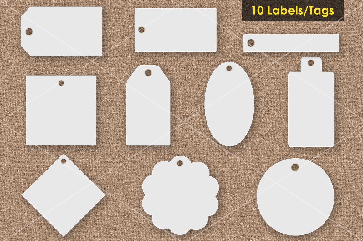 Tags / Labels Mockup Bundle example image 2