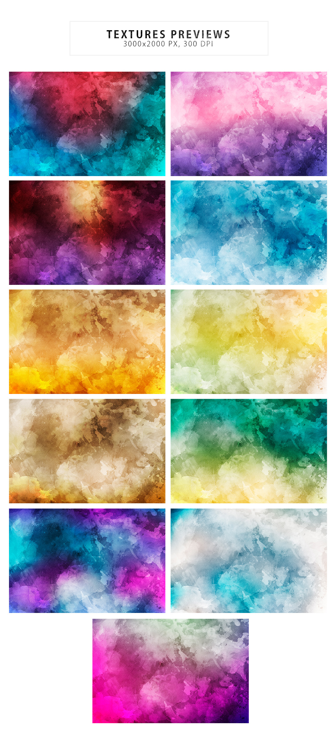 Watercolor Backgrounds & Bonus example image 2