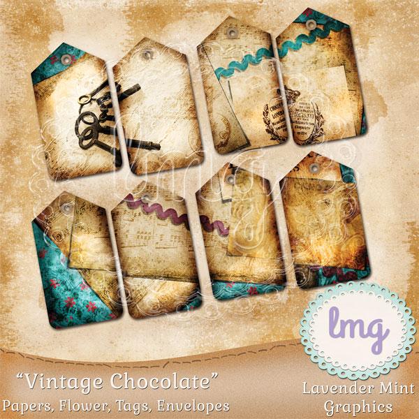 Vintage Chocolate Junk Journal Kit example image 4