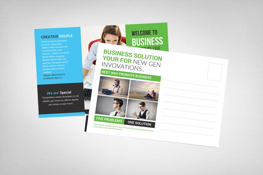 Multipurpose Business Postcard Template example image 2