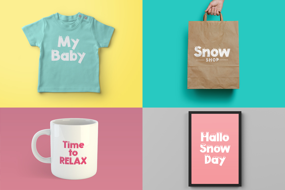 Snowty 3 Font example image 2