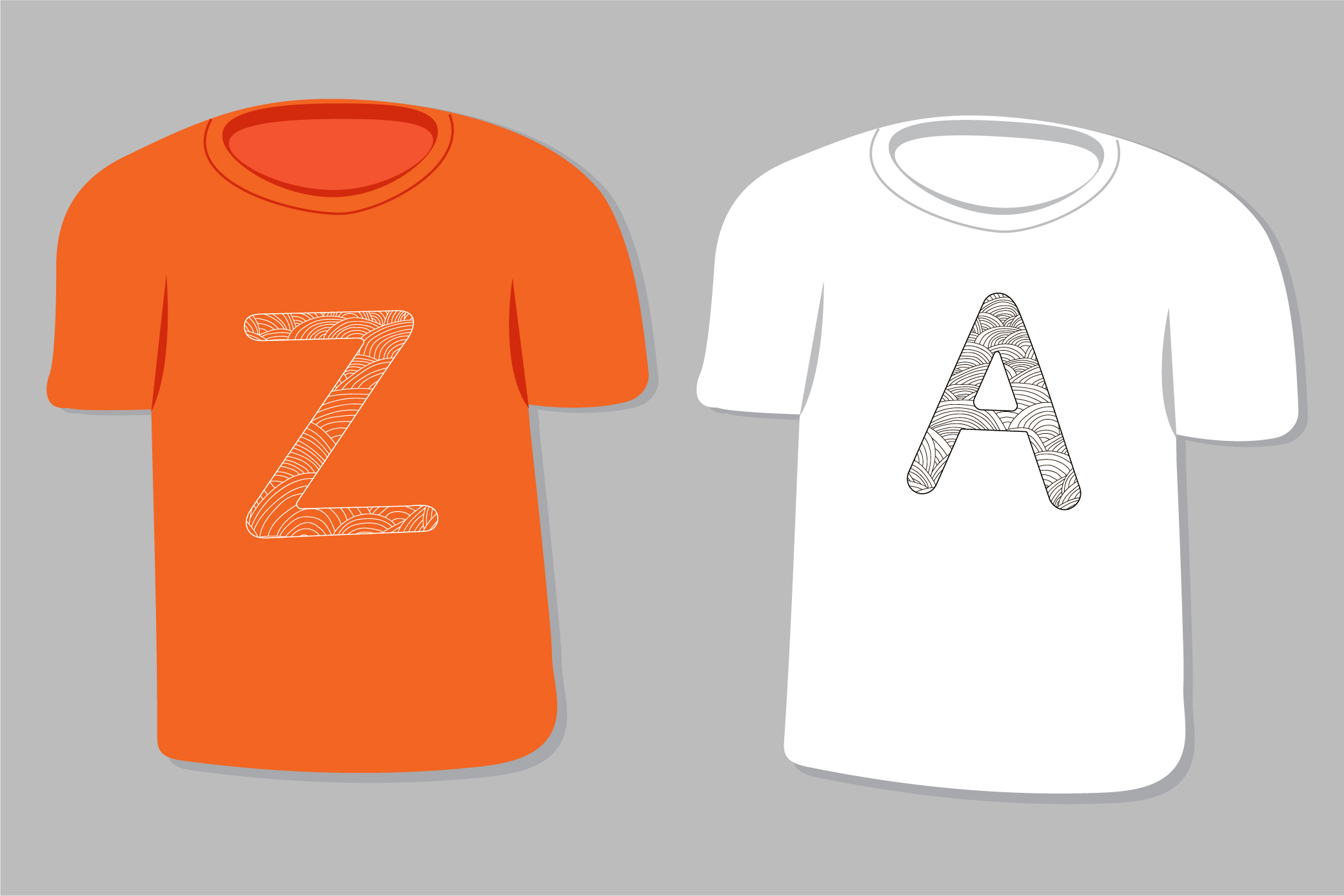 Alphabet. Letters A-Z. Coloring. example image 2