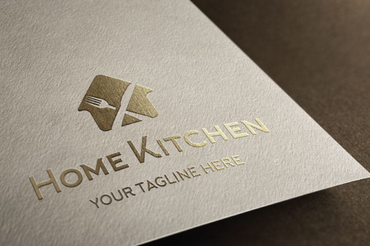 Fork & Knife cafe, Organic Food Restaurant Logo example image 4