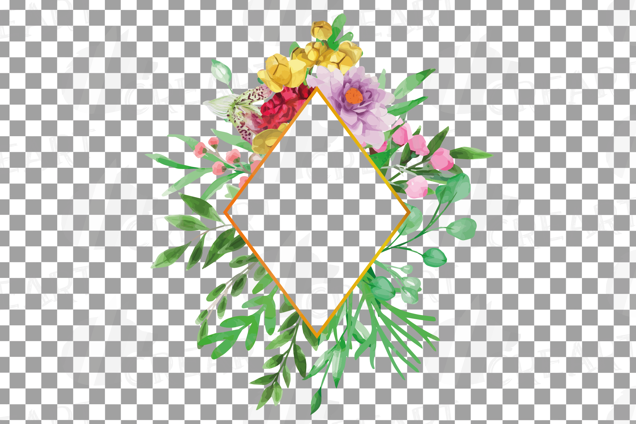 Watercolor floral floral frames and borders clip art pack example image 22