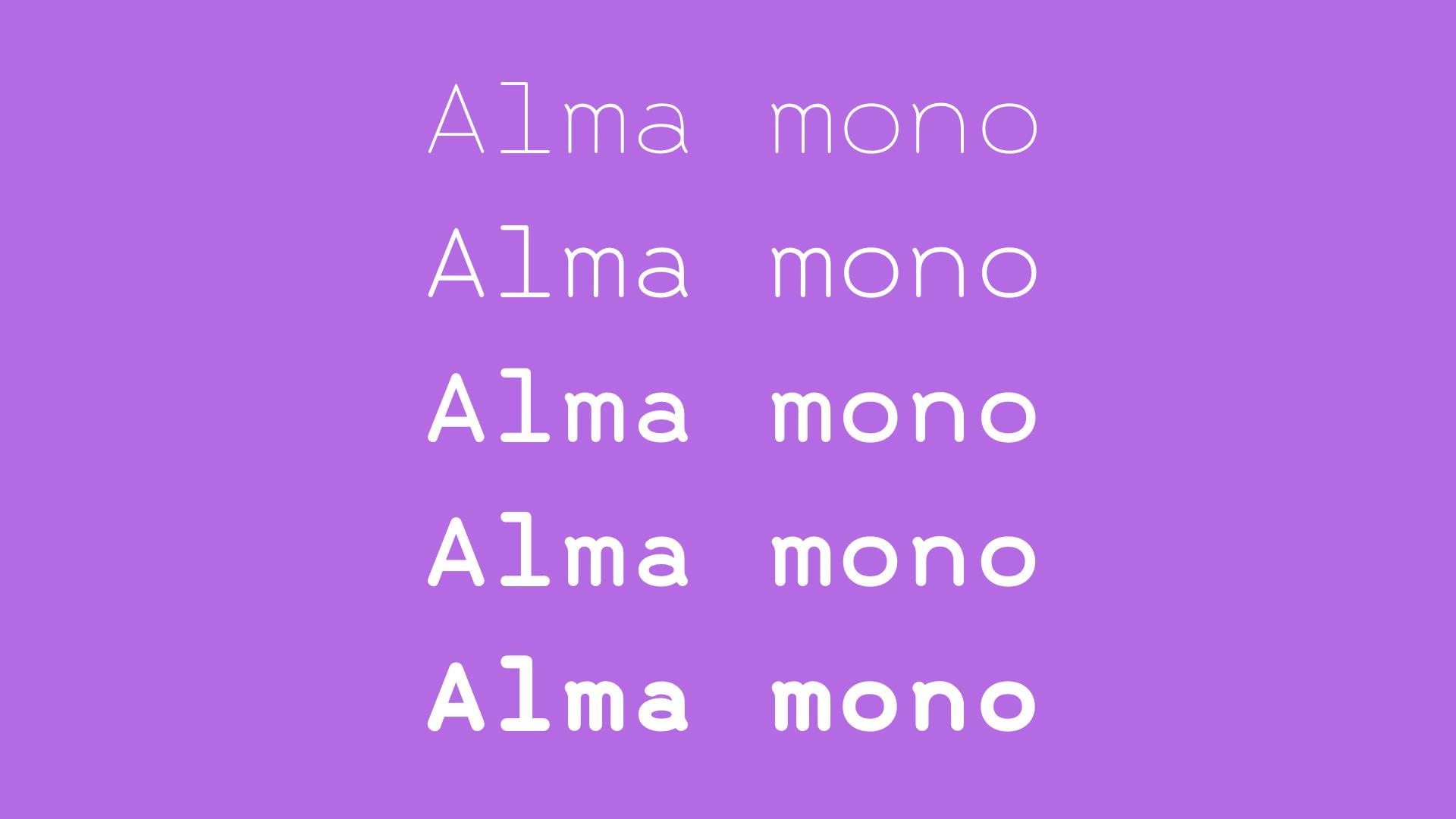 Alma Mono example image 2