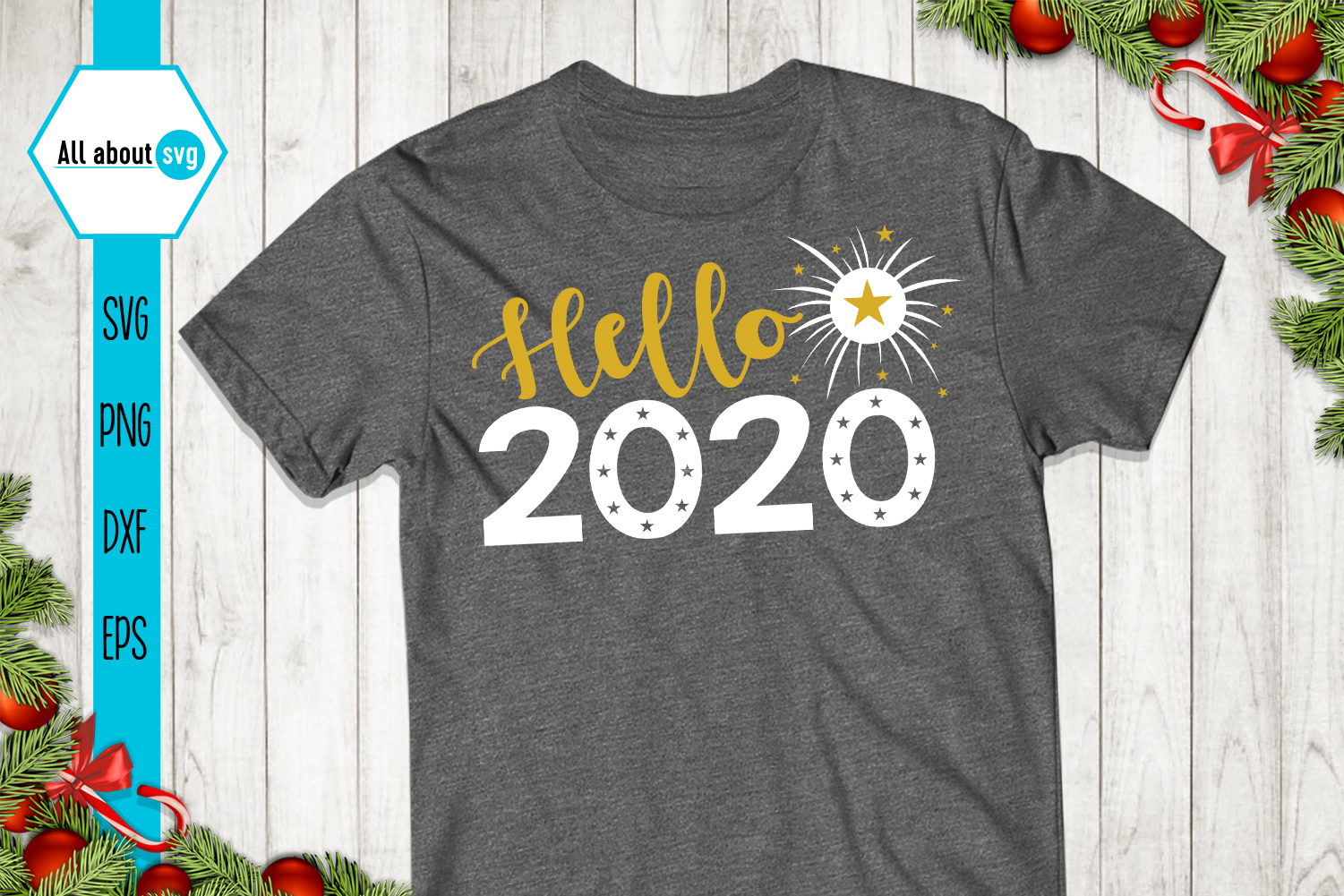 Hello 2020, New Year Svg example image 3