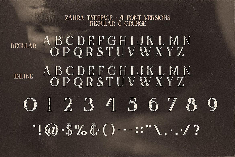 Zahra Typeface example image 3