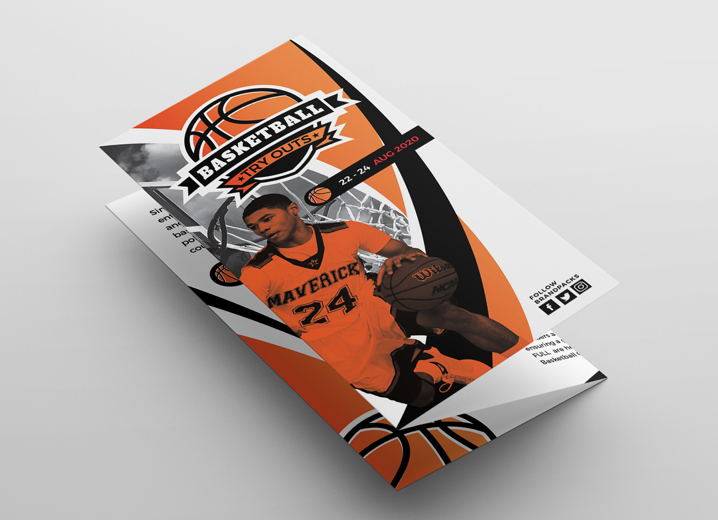 Basketball Tri-Fold Brochure Template example image 3