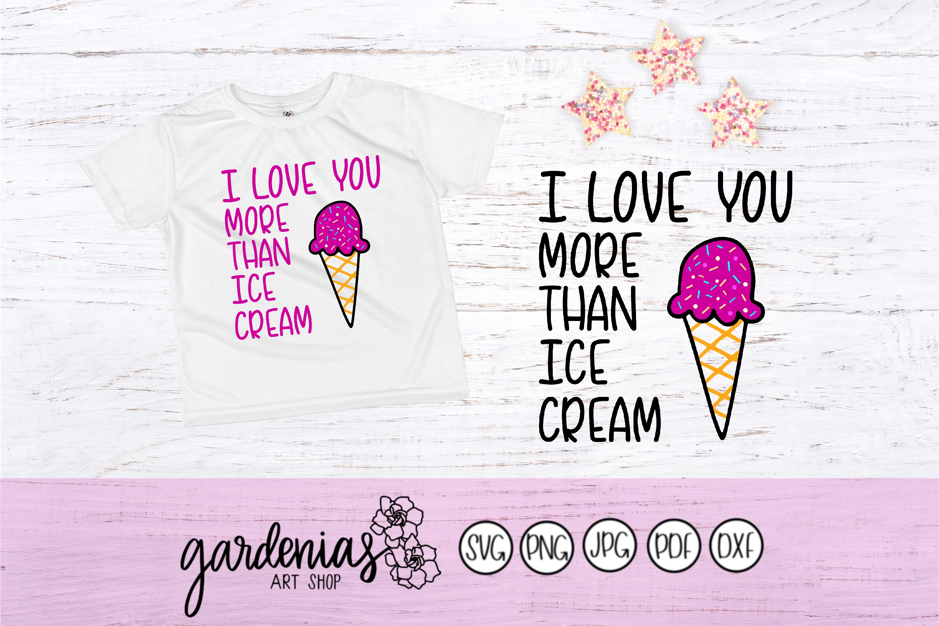 I Love You More Than Ice Cream SVG Cut Files example image 3