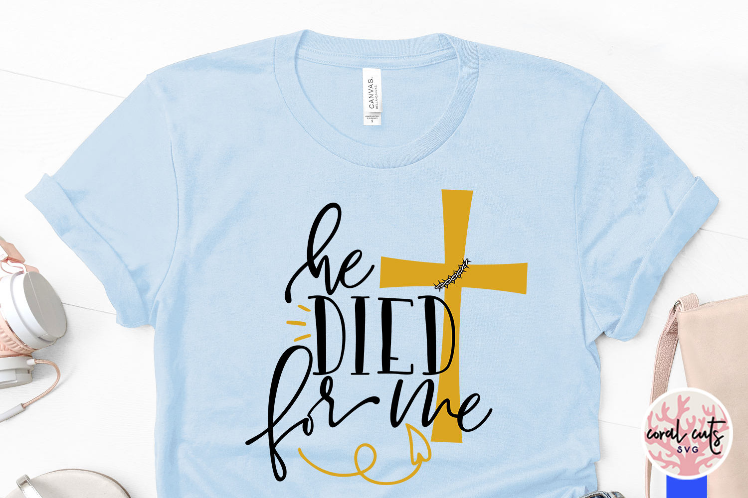 He died for me - Easter JesusSVG EPS DXF PNG Cutting File example image 3