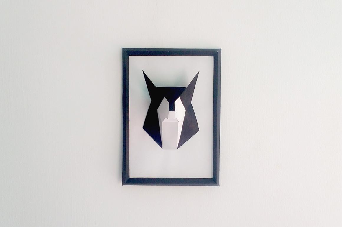 DIY Fox frame - 3d papercraft example image 1