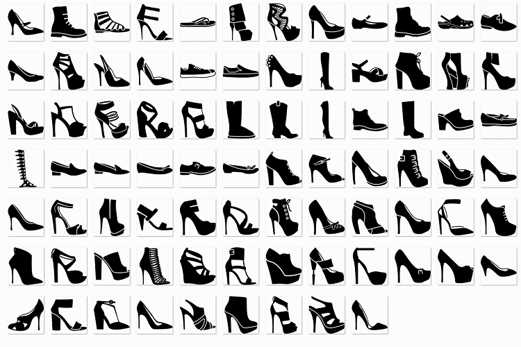 Women's shoes glyph example image 1