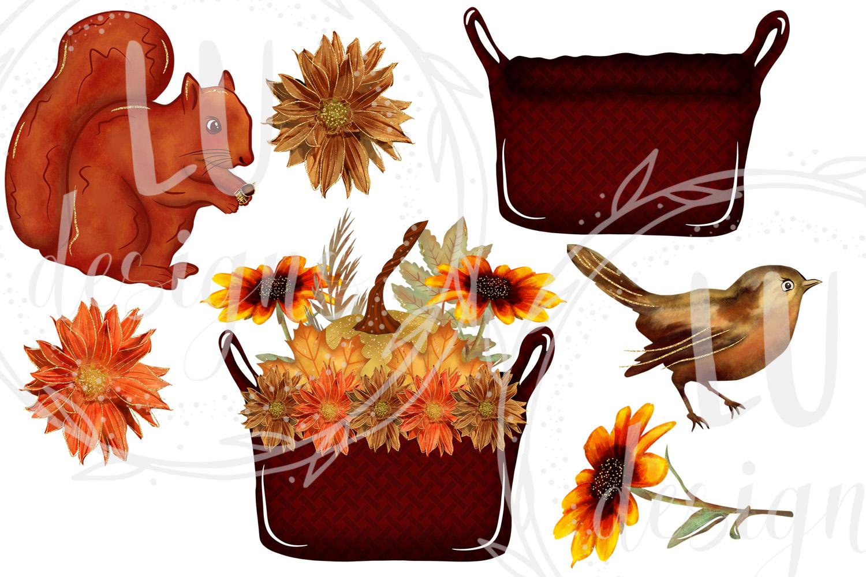 Fall Clipart, Autumn Graphics, Harvest Pumpkins Clipart example image 5