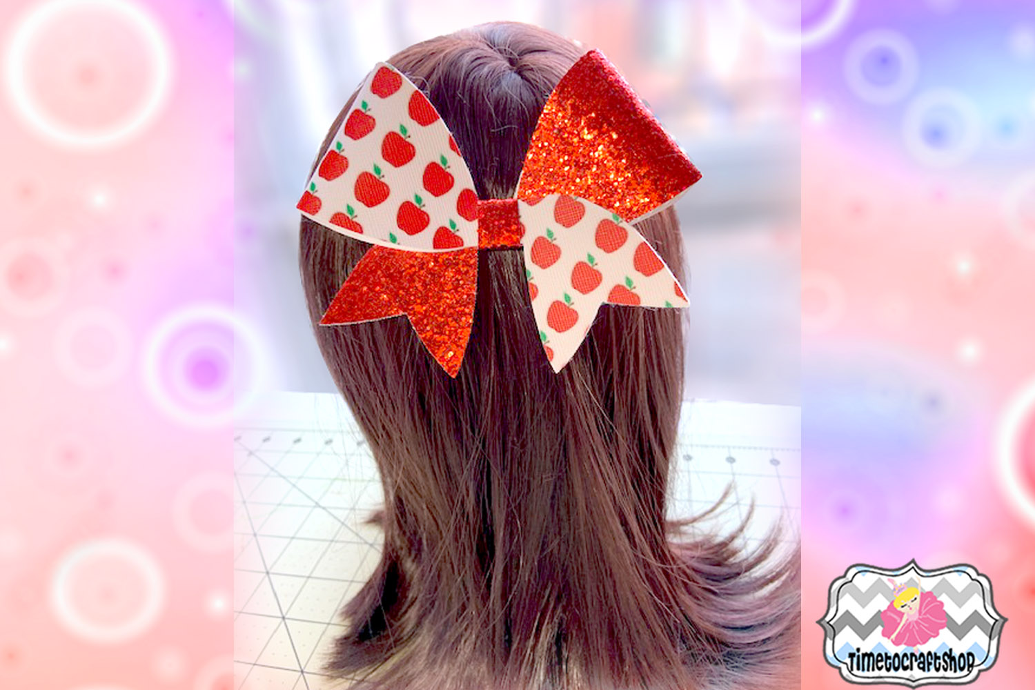 Cheer Bow Short Tail Template Svg. Dxf. Pdf. Eps. Jpg. Png example image 2