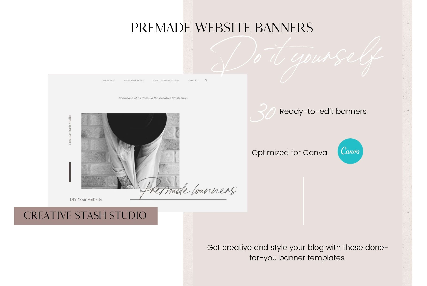 Premade website banners example image 2