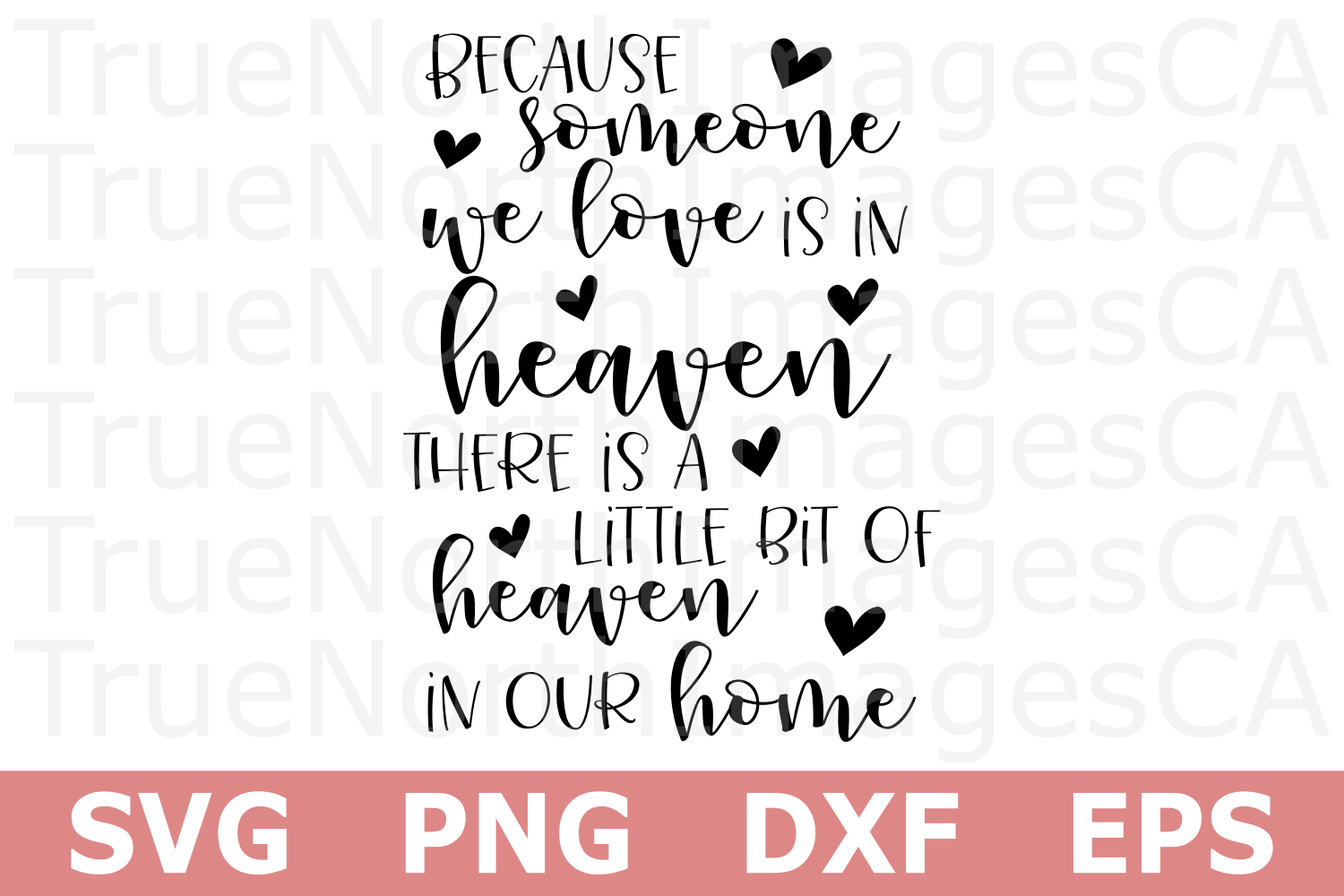 Someone We Love is in Heaven - A Memorial SVG Cut File example image 2