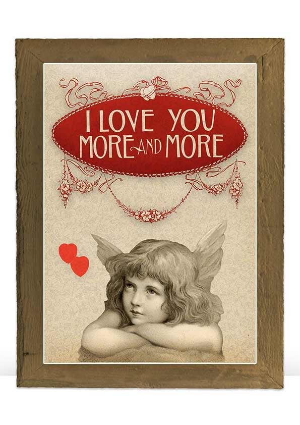 Digital Valentine vintage art print decoration example image 3