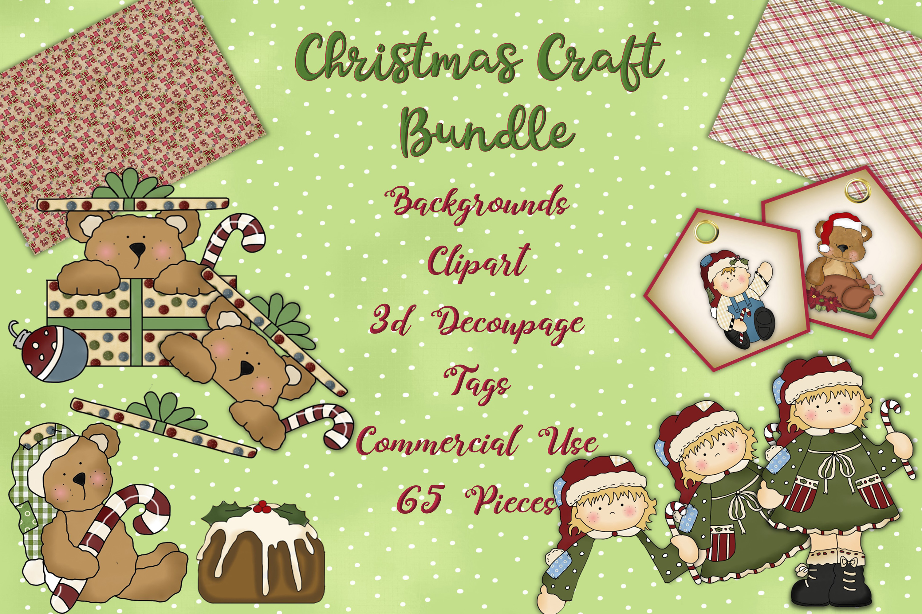 Christmas Crafts Bundle JPEG and PNG Commercial Use example image 1