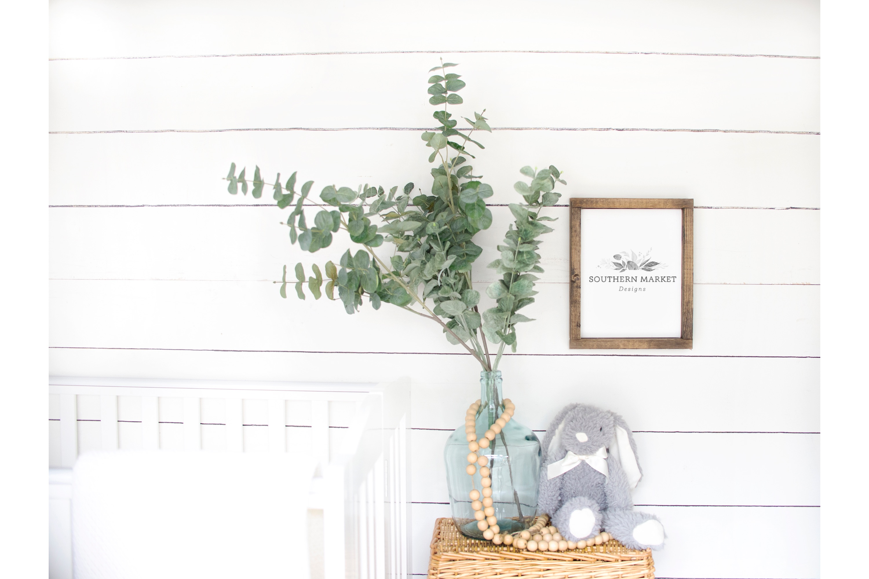 Nursery 8x10 Sign Mock Up Wood Frame Styled Photography example image 1