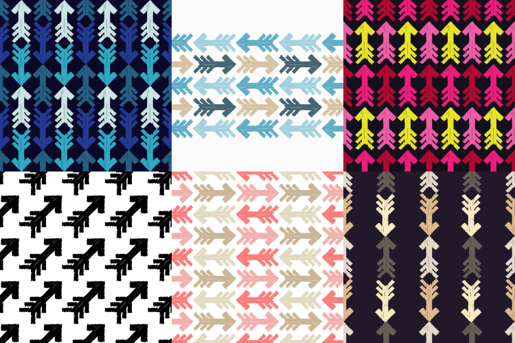 6 Ethnic boho seamless pattern. Arrows scribble texture.  example image 1