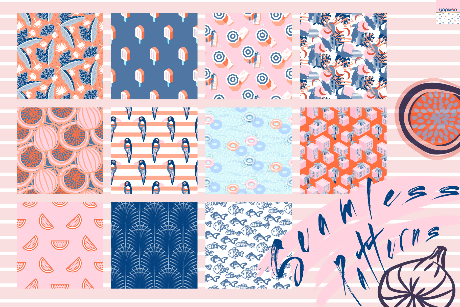 Summer Vibes - Graphics & Patterns example image 8