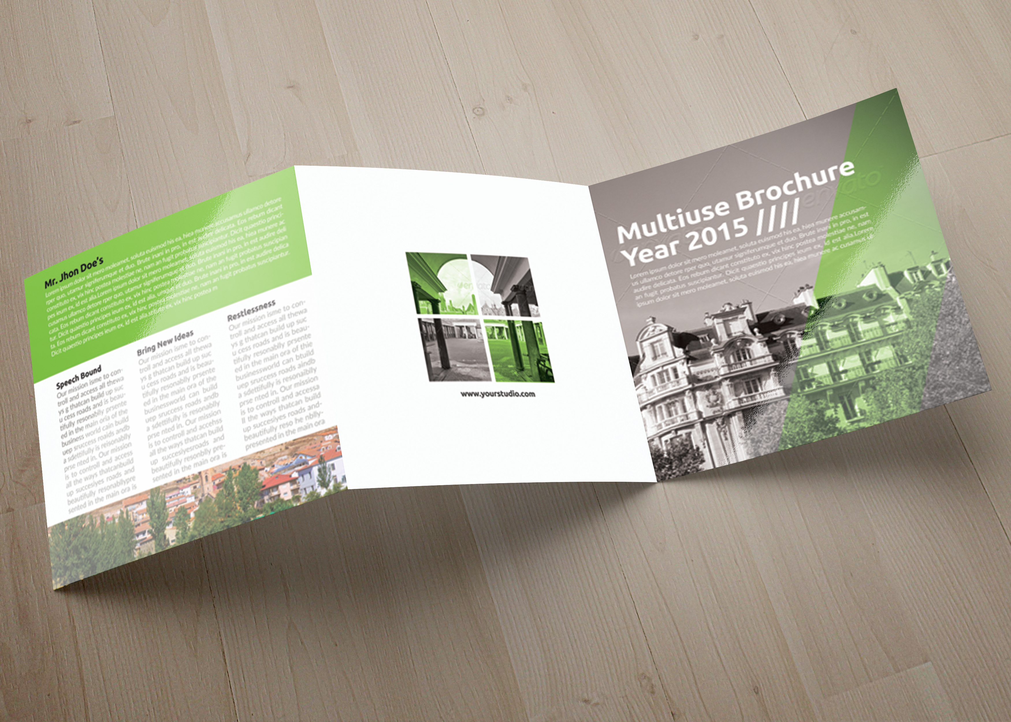 Business Tourist Square Trifold Brochure example image 3