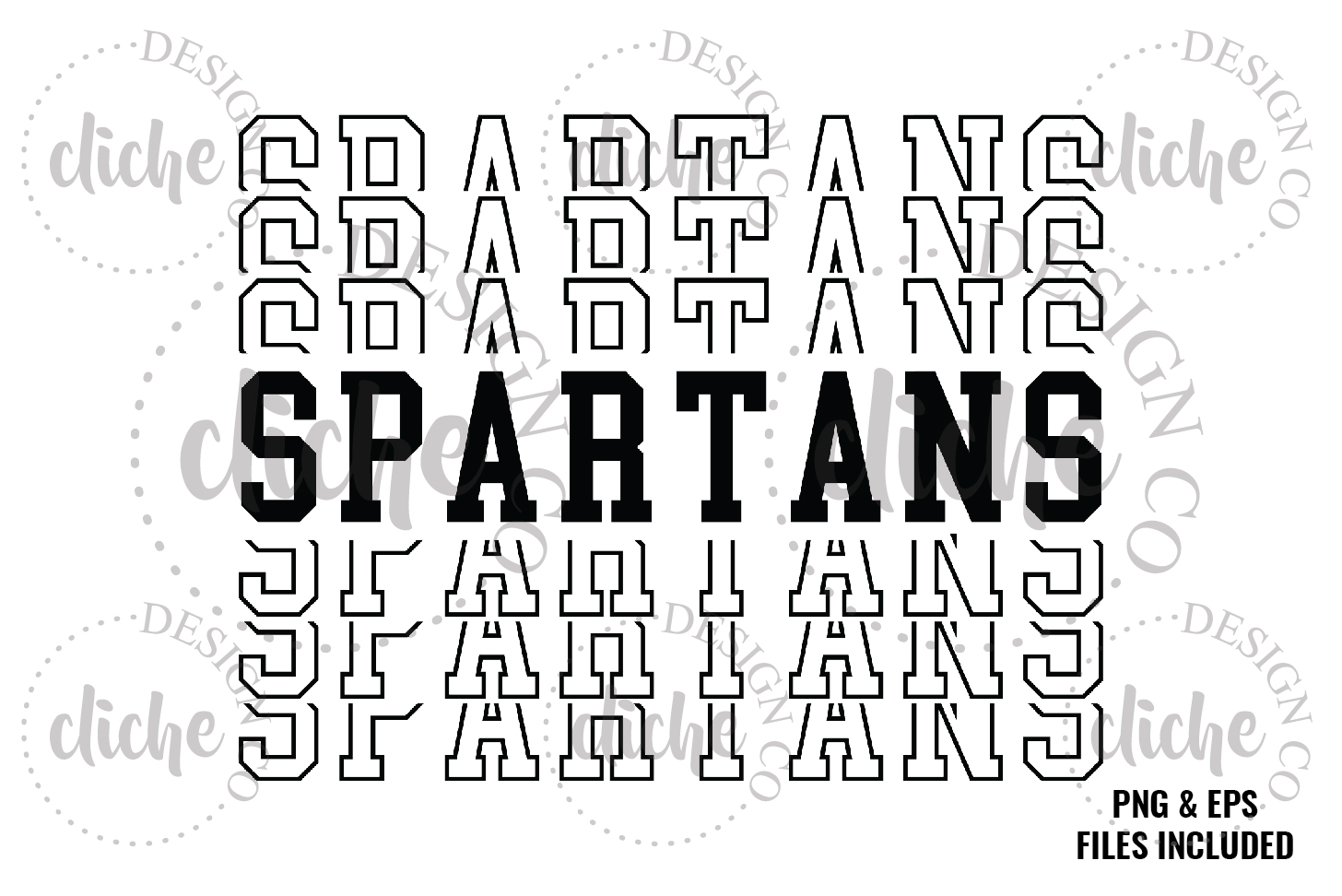 Spartans Sublimation Design & Bonus Vector Files example image 1