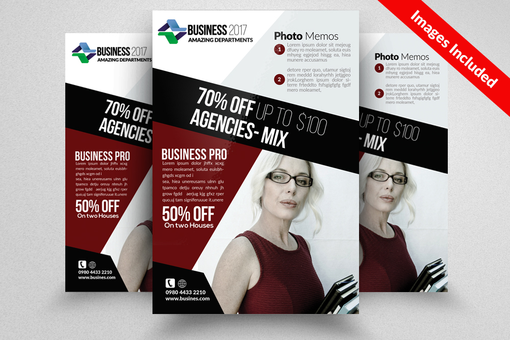 Insurance Consulting Flyer Templates example image 1