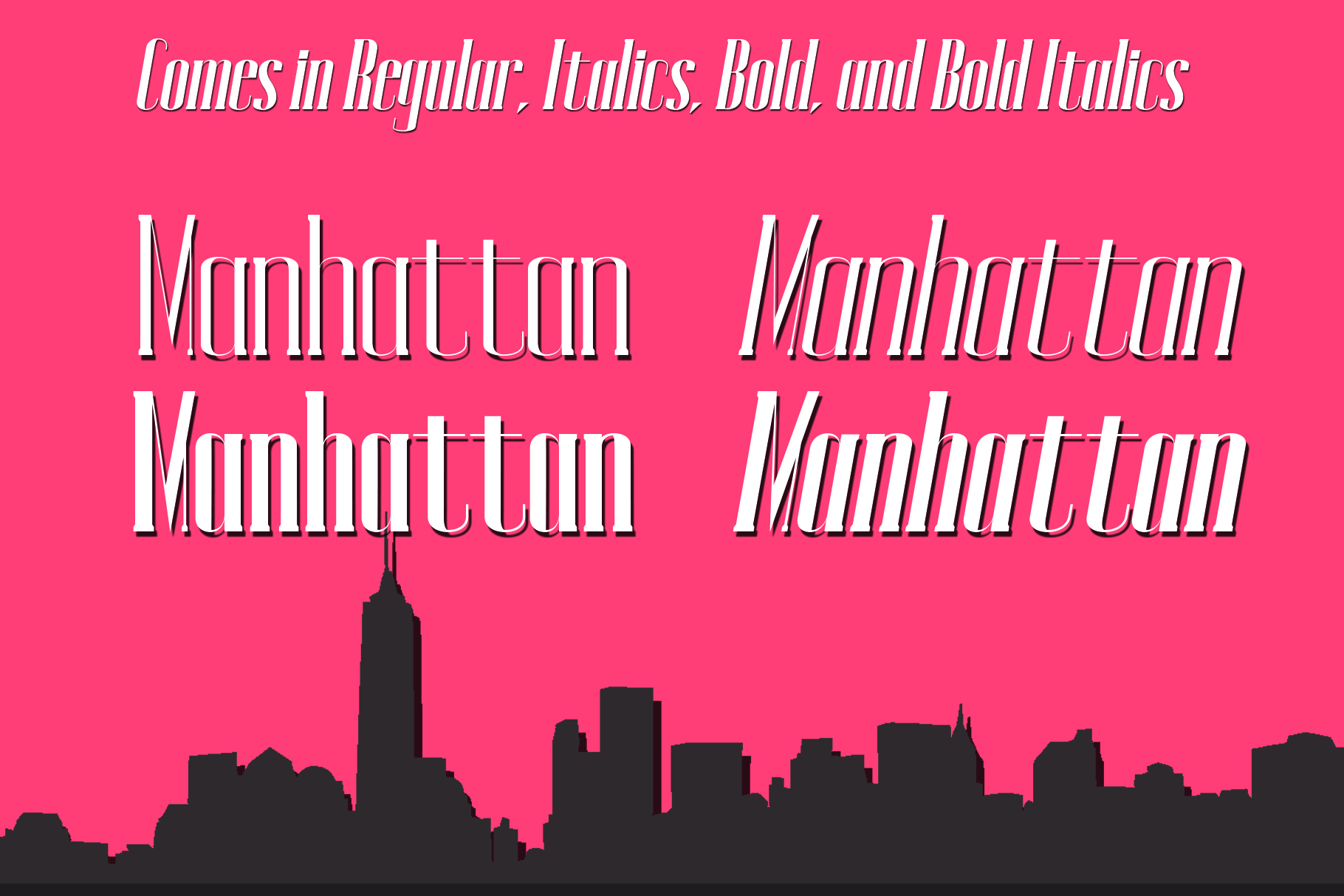 MANHATTAN A New York Typeface example image 3