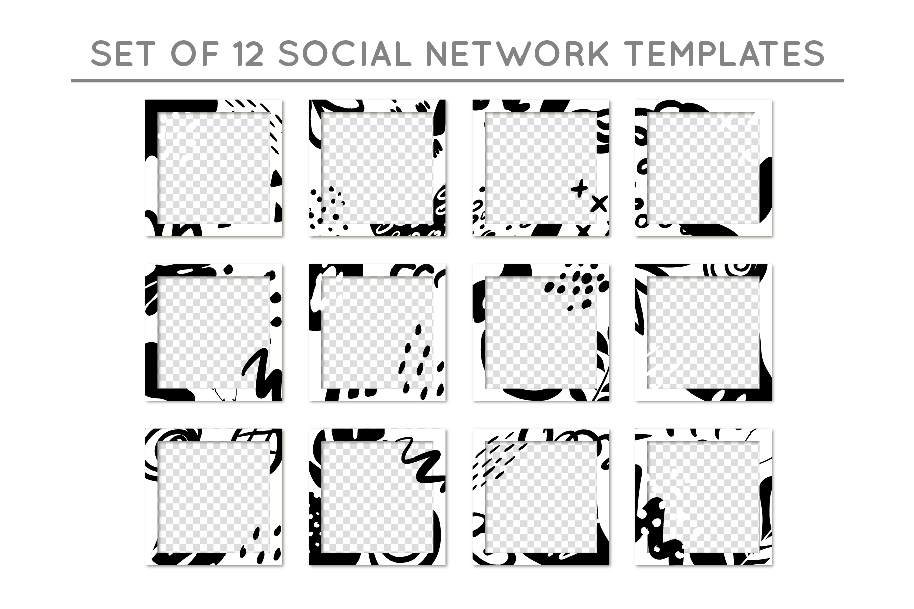 Social network templates/Elements example image 8