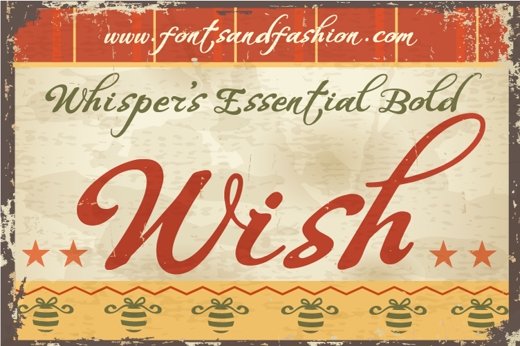 Whispers Calligraphy Essential_Bold example image 2