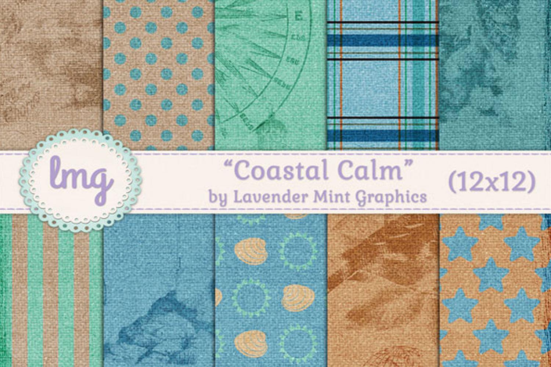 Coastal Calm Digital Paper example image 1