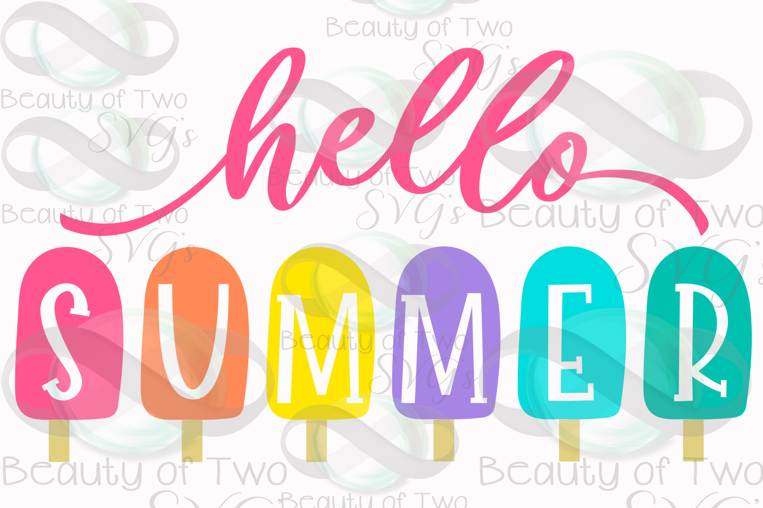 Hello Summer popsicles svg and png, Summer svg popsicles svg example image 3