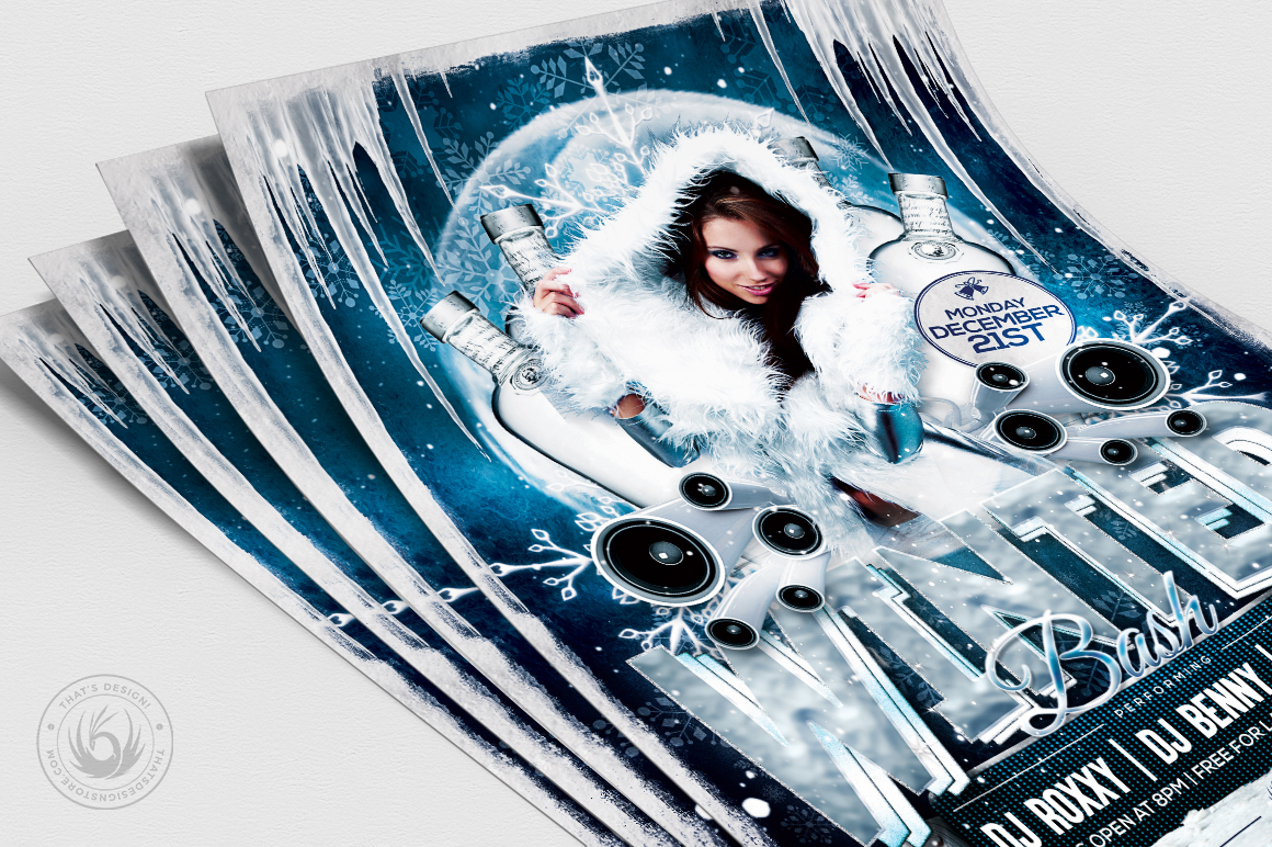 Winter Bash Flyer Template V1 example image 5