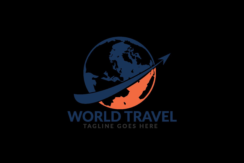 World Travel logo design. Travel agency and company logo. example image 2