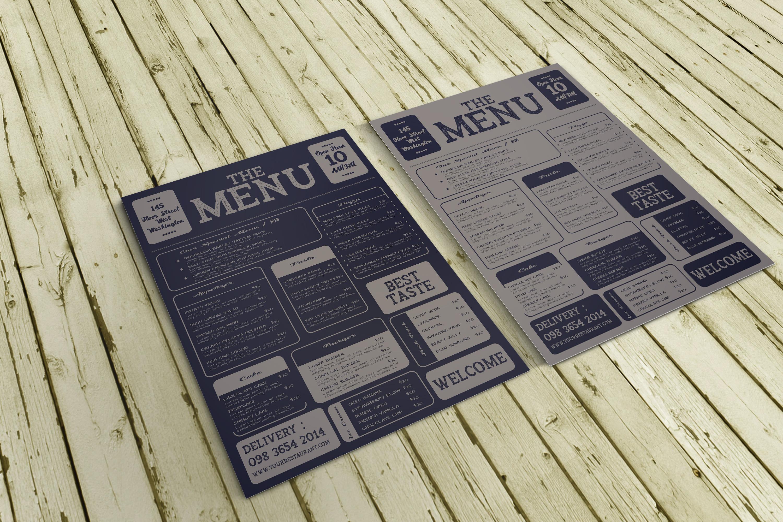 Restaurant Menu Template example image 1