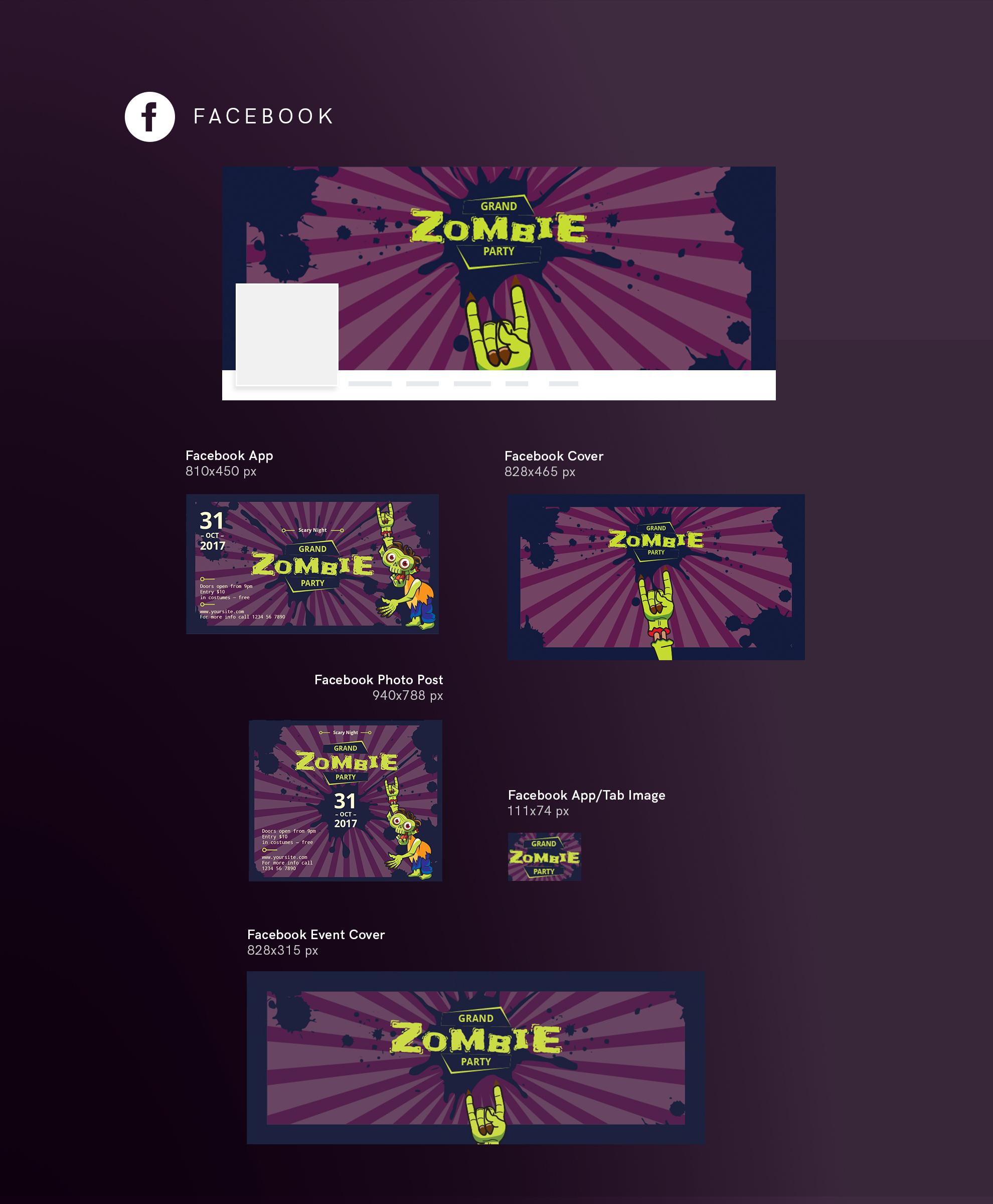 Zombie Party Design Templates Bundle example image 9