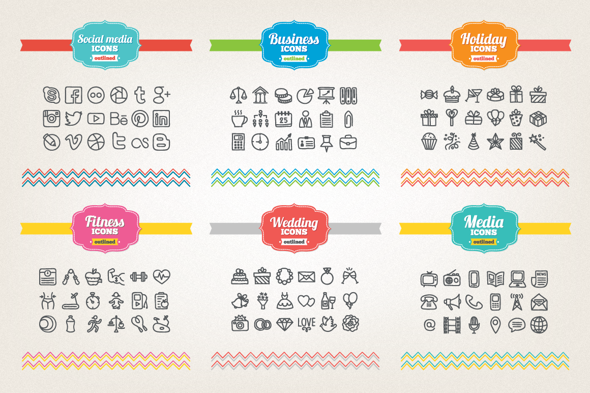 83 Off - Hand Drawn Icons Bundle example image 2