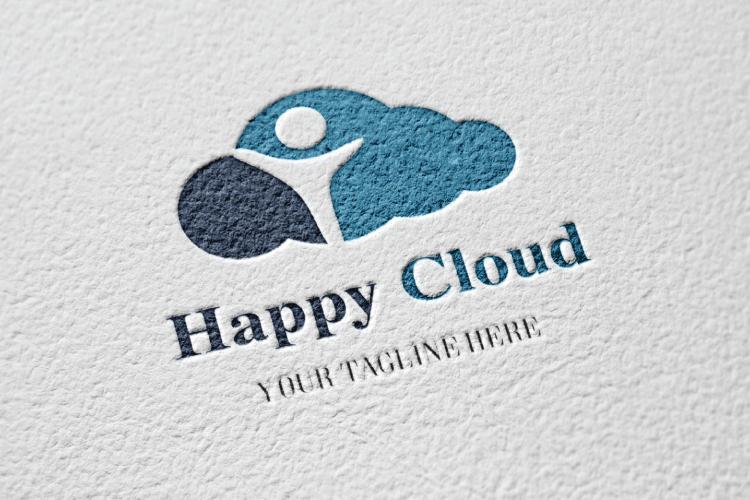 Happy Kid In Cloud Logo example image 2