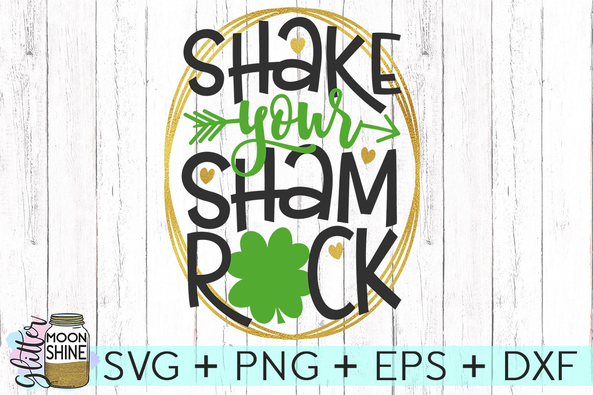 Shake Your Shamrock SVG DXF PNG EPS Cutting Files example image 1