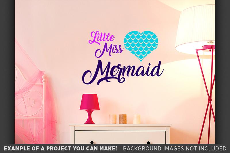 Little Miss Mermaid SVG - Mermaid Shirt SVG File - 1062 example image 2