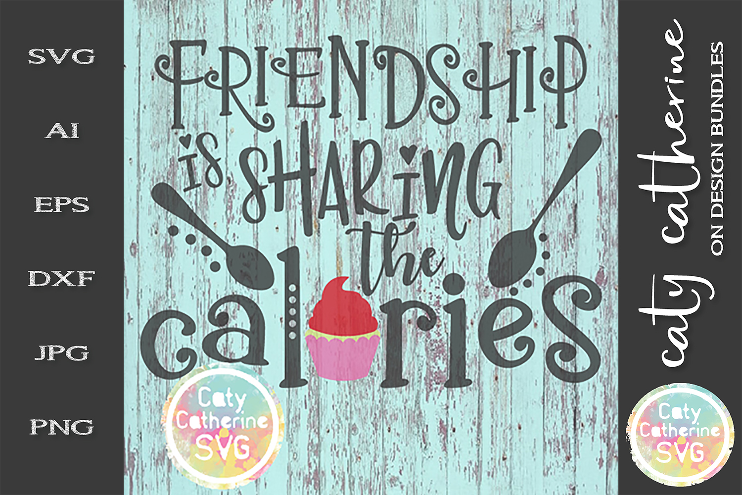 Friendship Is Sharing The Calories Funny Sign SVG Cut File example image 1