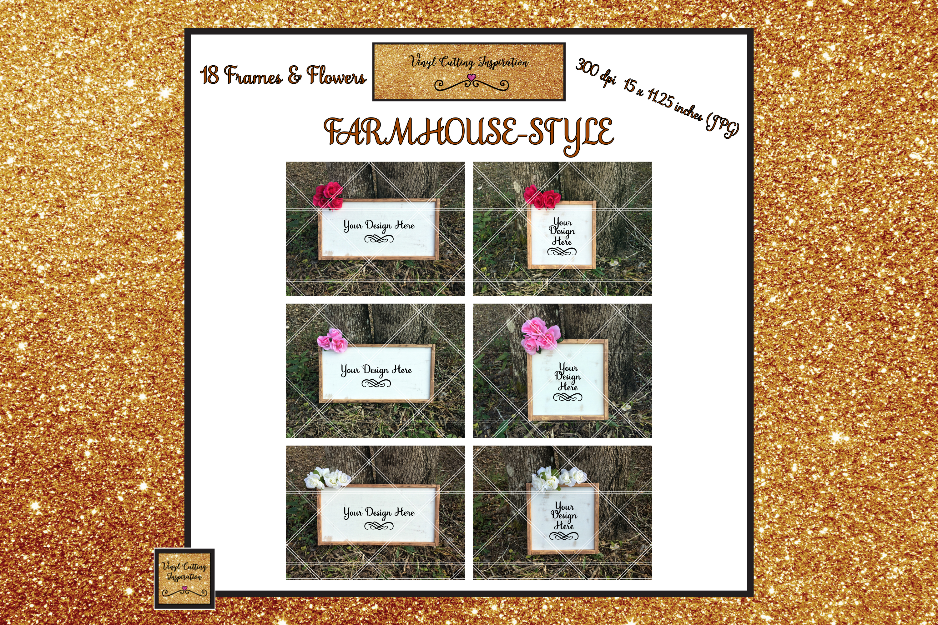 Wood Sign Mock ups Farmhouse Bundle Wood Frame Mockups JPG example image 3