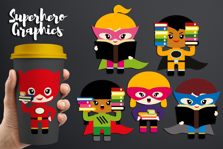 Illustrations Huge Bundle - Superhero Clip Art Graphics example image 23