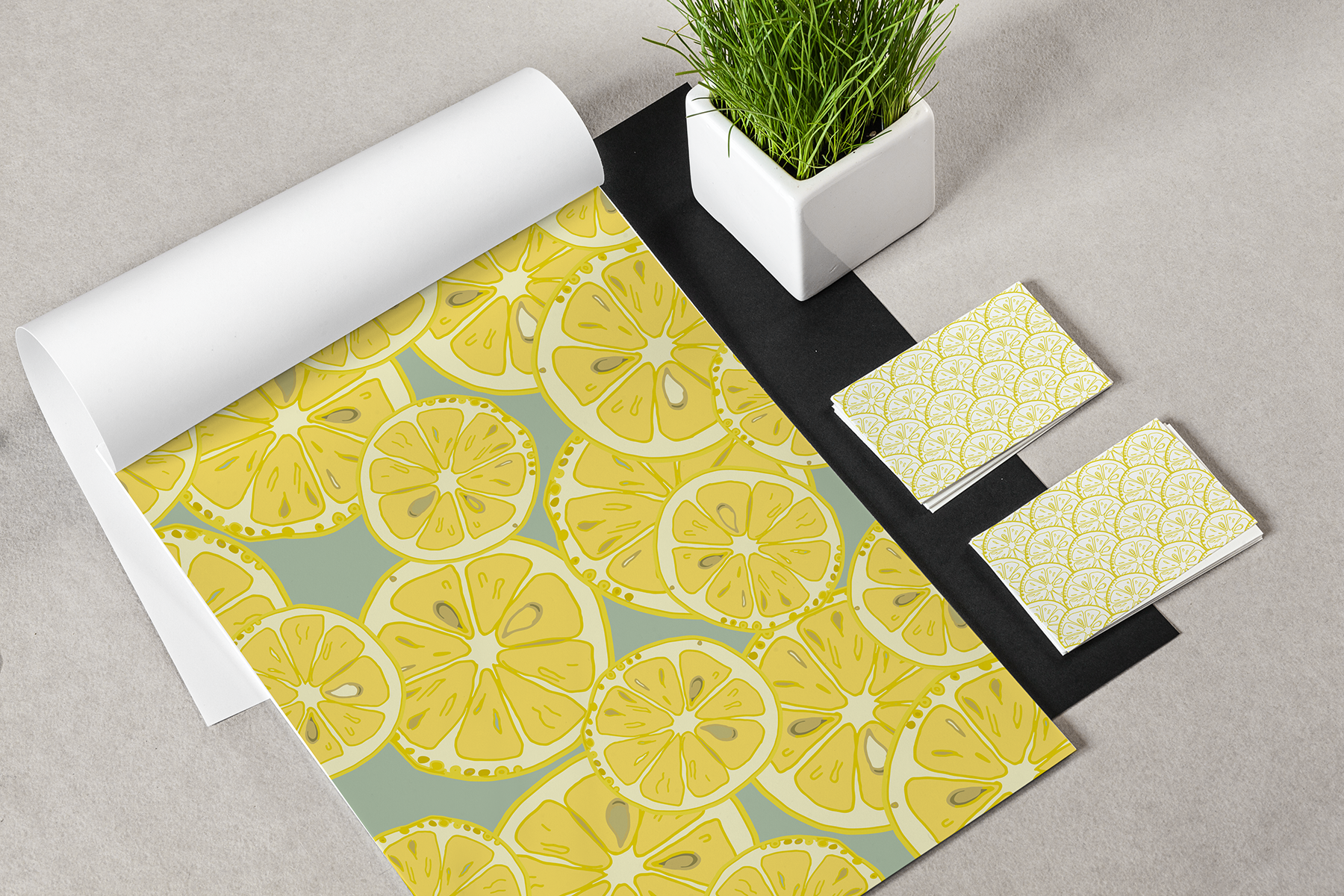 Lemons collection (158 vector and raster files) : 4 Patterns, 4 clipart Alphabets (144 png, 4 eps). example image 2
