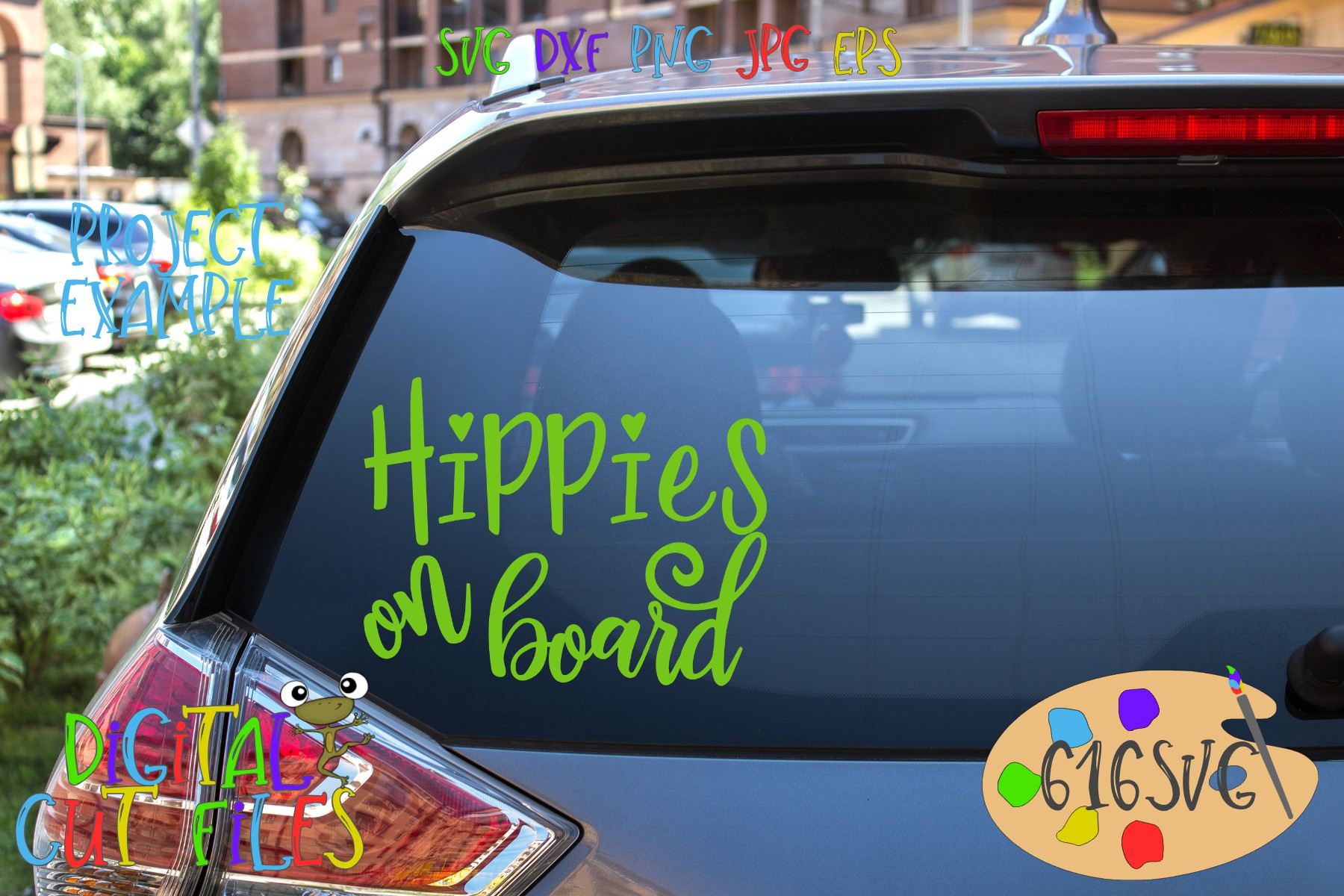 Hippie Mini Bundle SVG example image 6