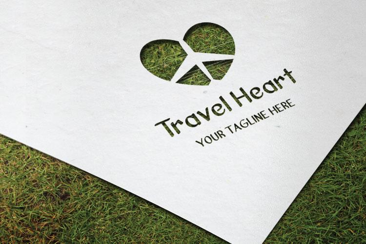 Aeroplane Heart Shape Logo example image 4